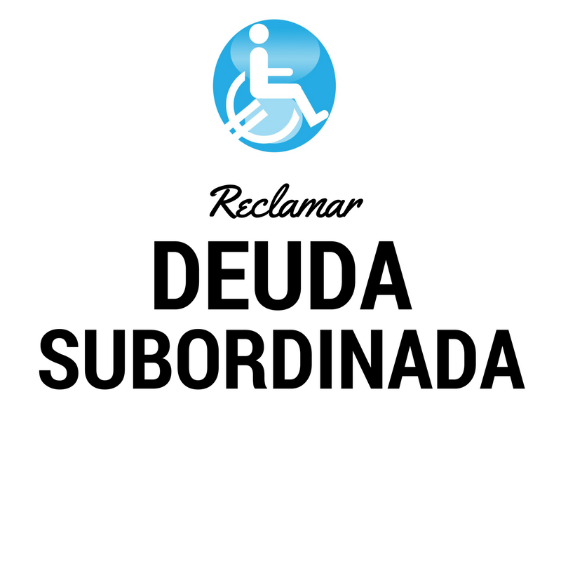 Reclamar banco afectados DEUDA SUBORDINADA
