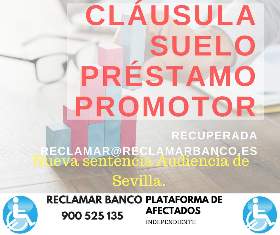 Clausula suelo promotor recupera el dinero reclamar banco for Clausula suelo mayo 2017